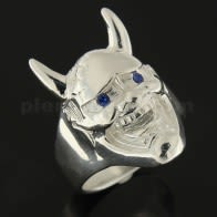 Laughing Satan with Jeweled Eyes Finger Ring