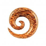 Organic Coco Wood Spiral Ear Expander Gauges