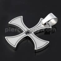 Irish Cross Spider Stainless Steel Casting Pendant