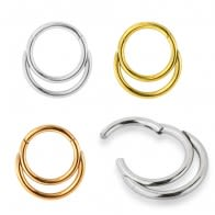 Charming Hollow Hoop Ear Lip Nose Ring Body Hinged Segment Clicker Ring