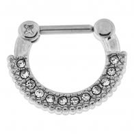 Single Line Micro Paved Septum Clicker Piercing