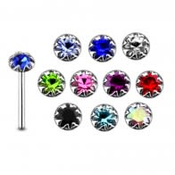 925 Silver Flower Set Nose Stud