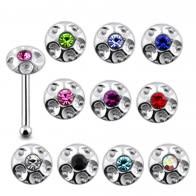 925 Silver Jeweled Shield Nose Stud