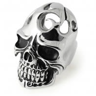 Laughing Broken Skull Finger Ring