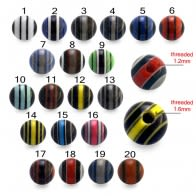 Multi Stripe Printed UV Balls