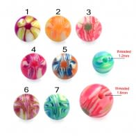 UV Fancy Colorful Hand Painted Balls