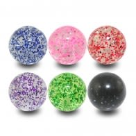 Mixe Color UV Fancy GLITTER Bead Lip Chin Fancy Balls