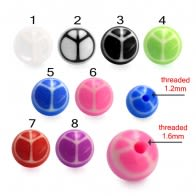 Mixed Color UV Fancy Ball Bead Lip Chin Fancy Balls