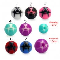 Fancy Multi Design Colorful UV Ball Bead Lip Chin Balls