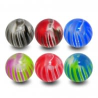 UV Mix Multi Design Fancy Colorful Piercing Balls