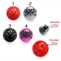 Skull Bone Painted UV Balls