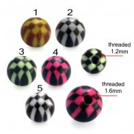 UV Acrylic Cheacker Art Pattern Fancy Balls