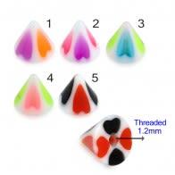 UV Fancy Colorful Hearts Cone Accessories