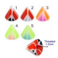 UV Fancy Colorful Twin Peace Sign Cone Accessories