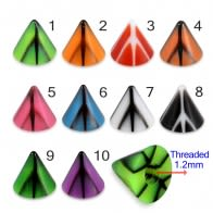 UV Fancy Colorful Peace Sign Cone Accessories