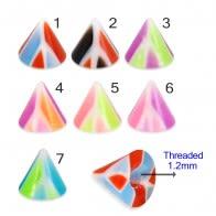 UV Fancy Colorful Mvlti Layer Triangles Cone Accessories