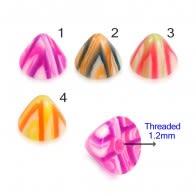 UV Fancy Multi Color Marbie Cone Accessories