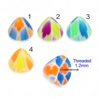 UV Fancy Colorful Flower Cone Accessories