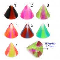 UV Fancy Colorful Swirl Cone Accessories