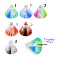 UV Fancy Colorful Marble Cone Accessories