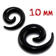 10mm UV Blackline Spiral Ear Stretcher