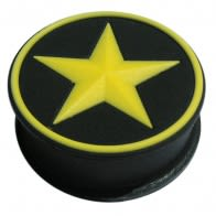 Silicone Color Changing In Yellow Star Ear Plugs