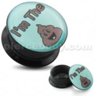 I'm the Poop Logo UV Internal Screw Fit Ear Tunnel