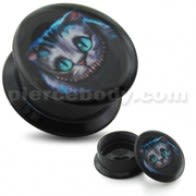 Cheshire Cat UV Internal Screw Fit Ear Tunnel