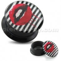 Bloody Lips UV Internal Screw Fit Ear Tunnel