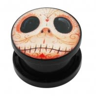 Mr. Jack Logo UV External Screw Fit Ear Flesh Tunnel Gauges