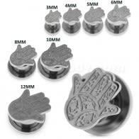 Hamsa or Fathima Hand Surgical Steel Flesh Tunnel