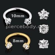 Star CZ Stone Helix Tragus Piercing Ear Stud