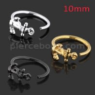 Anchor Style Cartilage Helix Tragus Hoop Ring Stud