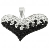 Crystal stone Heart Pendent