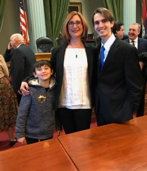 Tara with family after being sworn in as Northampton County Councilwoman