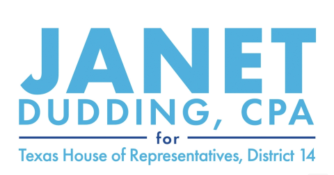 Janet Dudding  for Texas House of Representatives, District 14