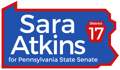 Sara Atkins  for 2020 Pennsylvania State Senate, District 17 (Montgomery and Delaware Counties)