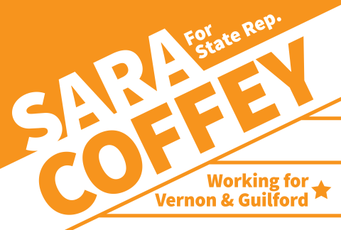 Sara Coffey  State Rep. working for Guilford & Vernon