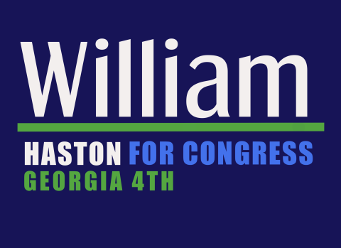 William Haston  for Georgia's 4th Congressional District