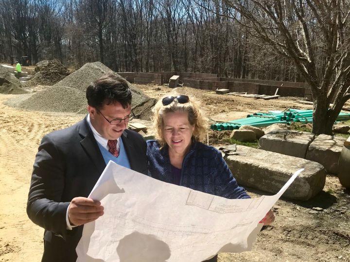 Planning the future of Eisenhower Park with Mayor Ben Blake.