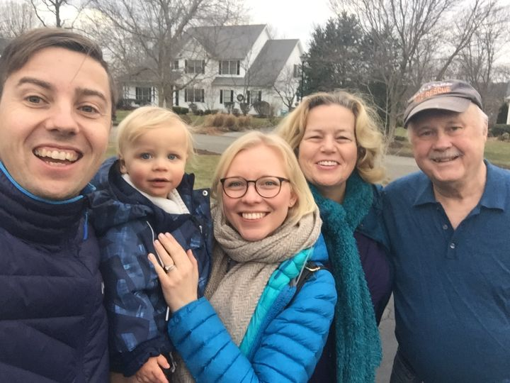 We had a wonderful visit from our son Zack his wife Laura and their son Theo in January!
