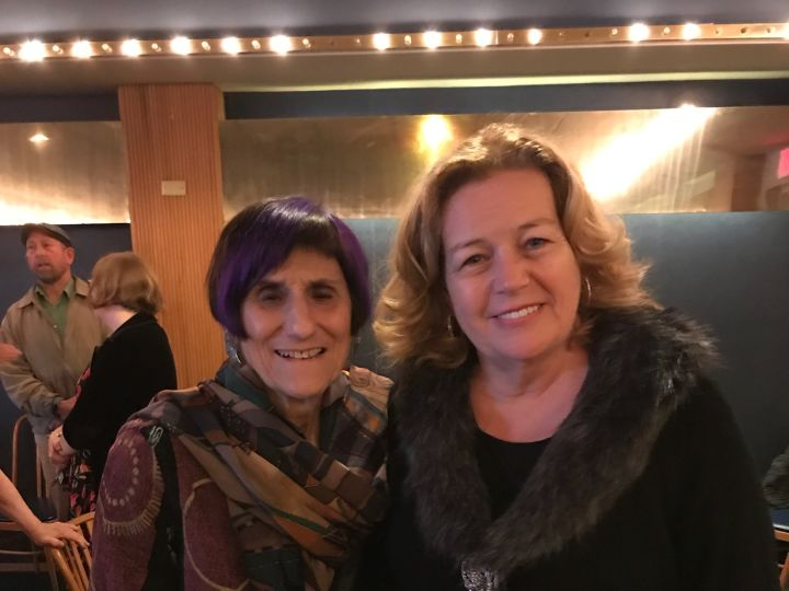 Representative Rosa DeLauro and I at her brunch at Jimmy's in West Haven.