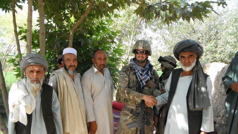Aaron Marquez with Afghan Elders