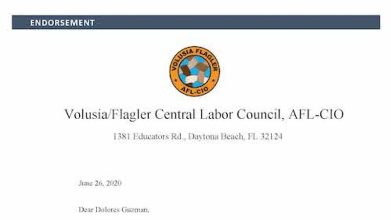 Endorsement Letter AFL-CIO