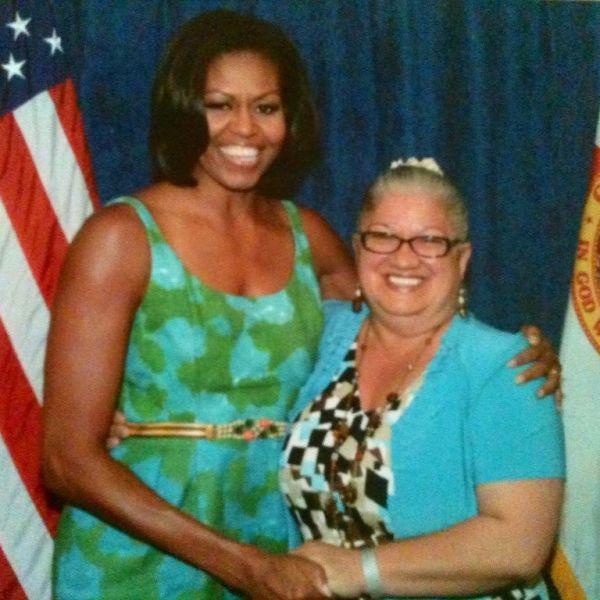 Michelle Obama & Dolores Guzman