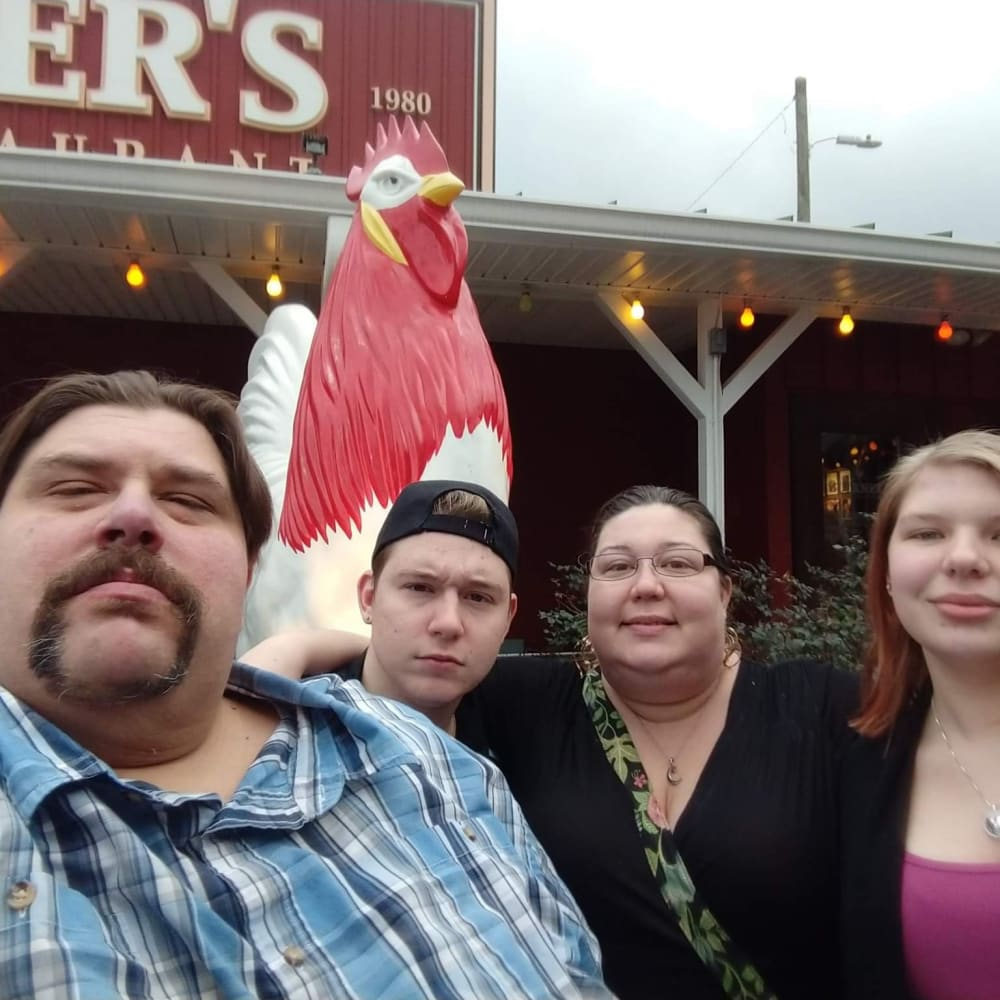 Chris Benton and family