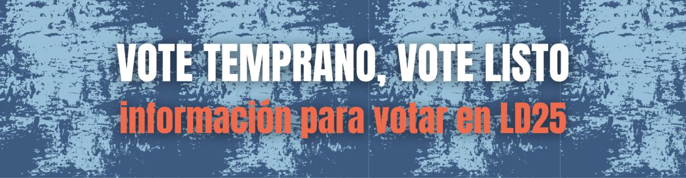 Informacion para votar en Arizona LD25