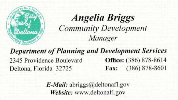 City of Deltona Community Development Manager Angelia Briggs