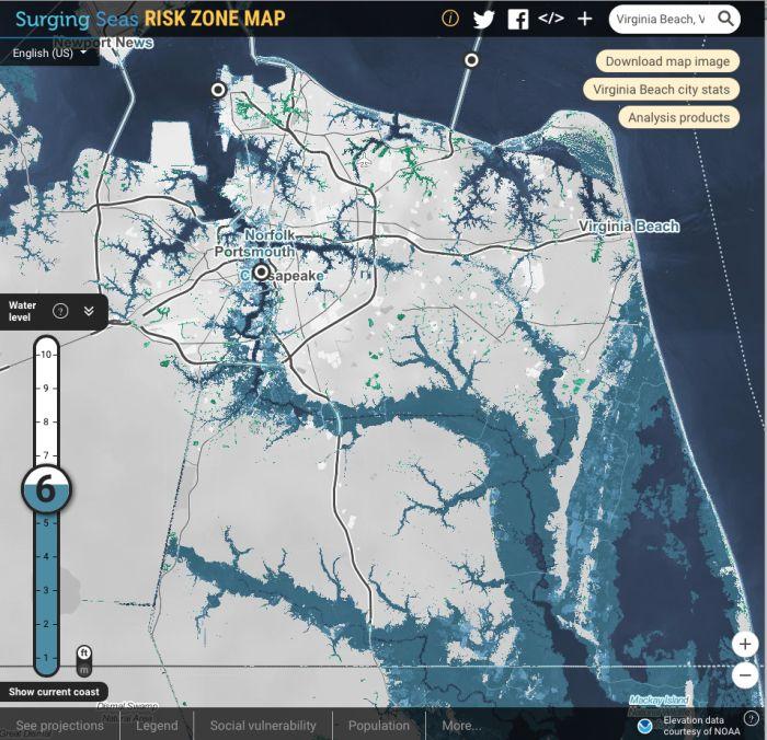 6' sea level rise