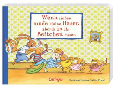 Wenn sieben müde kleine Hasen abends in ihr Bettchen rasen, 9783789166457